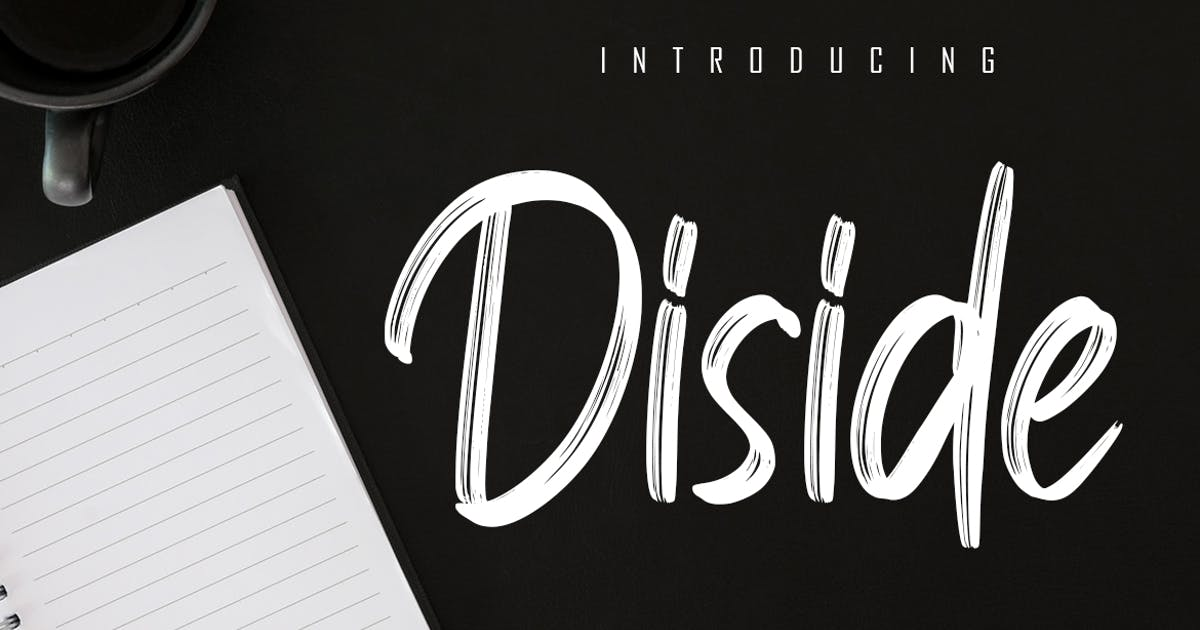 Download Diside - Handbrush Font by Skiiller_studio