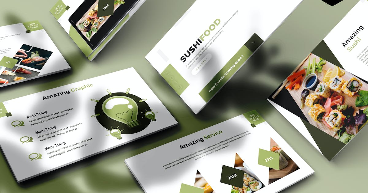 Download Sushifood  - Powerpoint Template by aqrstudio