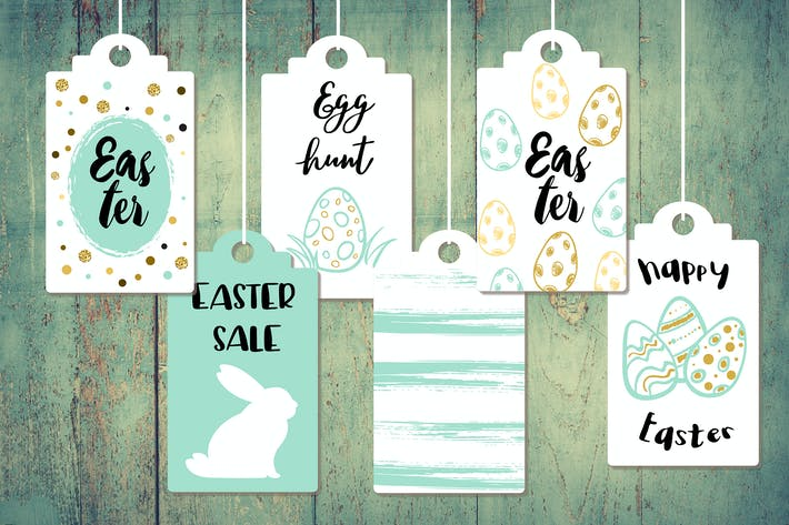Thumbnail for Green Easter Sale Tags