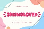 Springloved - Playful Font