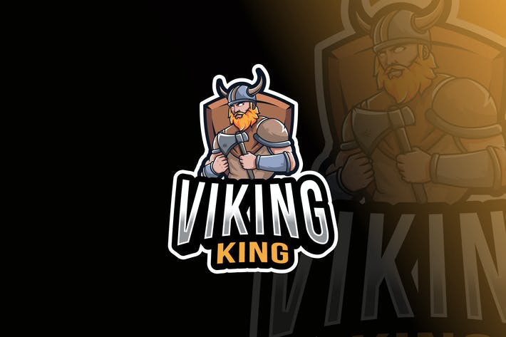 Cover Image For Viking King Logo Template