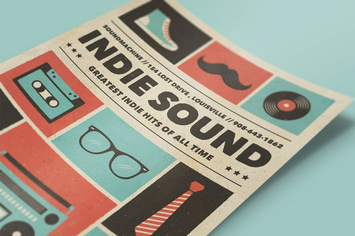 Cover Image For Indie Sound - Music Flyer