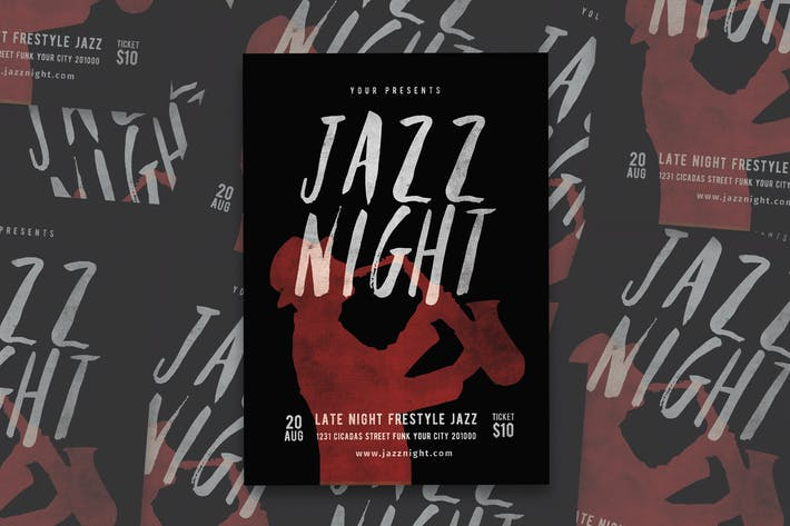 Thumbnail for Jazz Music Flyer