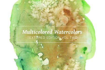 Multicolored Textured Watercolors Vol. 2
