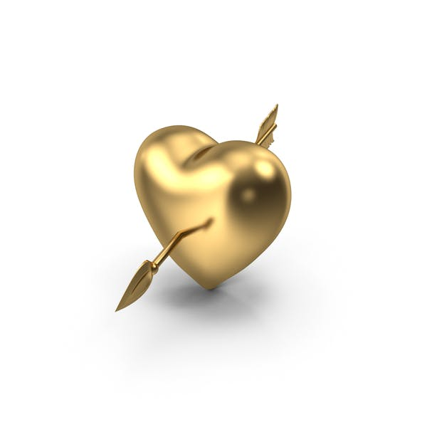 Thumbnail for Golden Heart with Arrow