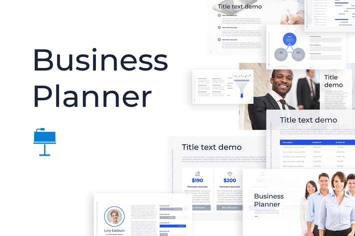 Cover Image For Business Planner Keynote Template