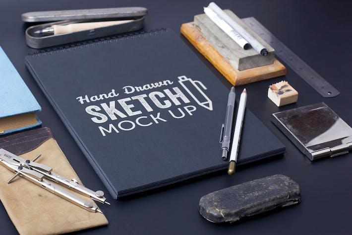 Thumbnail for Sketch Et Dessin Mockup Modèle #7