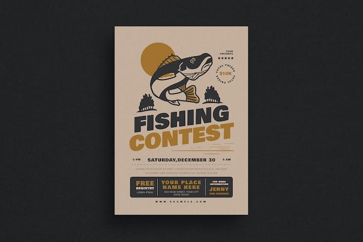 Thumbnail For Fishing Contest Event Flyer
