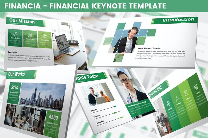 Thumbnail for Financia - Financial Keynote Template