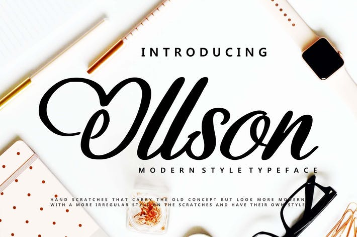 Thumbnail for Ollson | Modern Style Typeface