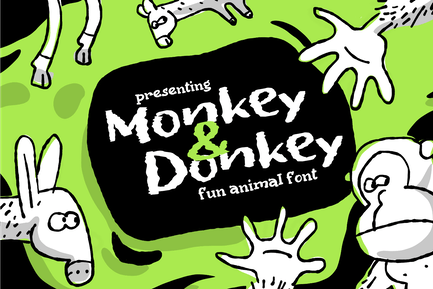 MonkeyDonkey, informal book cover font