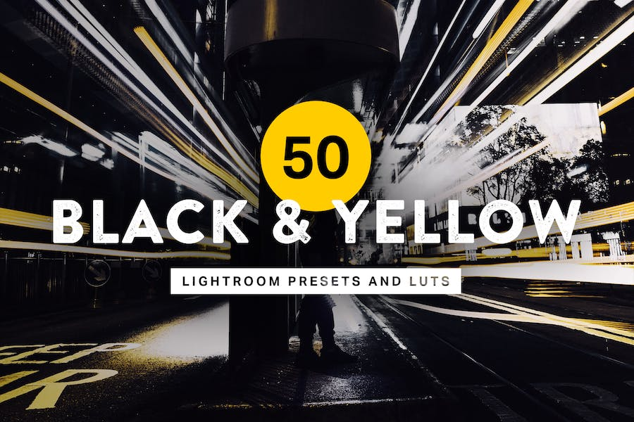 50 Black & Yellow Lightroom Presets and LUTs