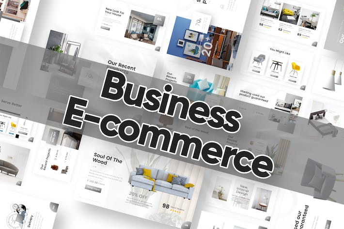 Thumbnail for Business E-commerce Powerpoint Template