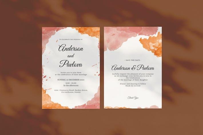 Thumbnail for Abstract Wedding Invitation