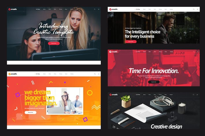 Thumbnail for Creatic - One Page Parallax HTML Template