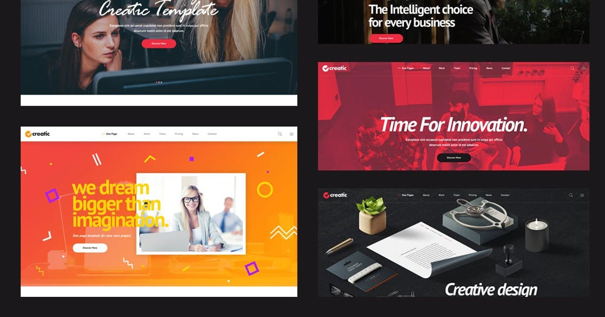 Download Creatic - One Page Parallax HTML Template by Layerdrops