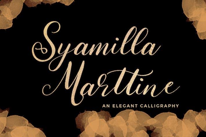 Thumbnail for Syamilla Marttine An Elegant Calligraphy Font