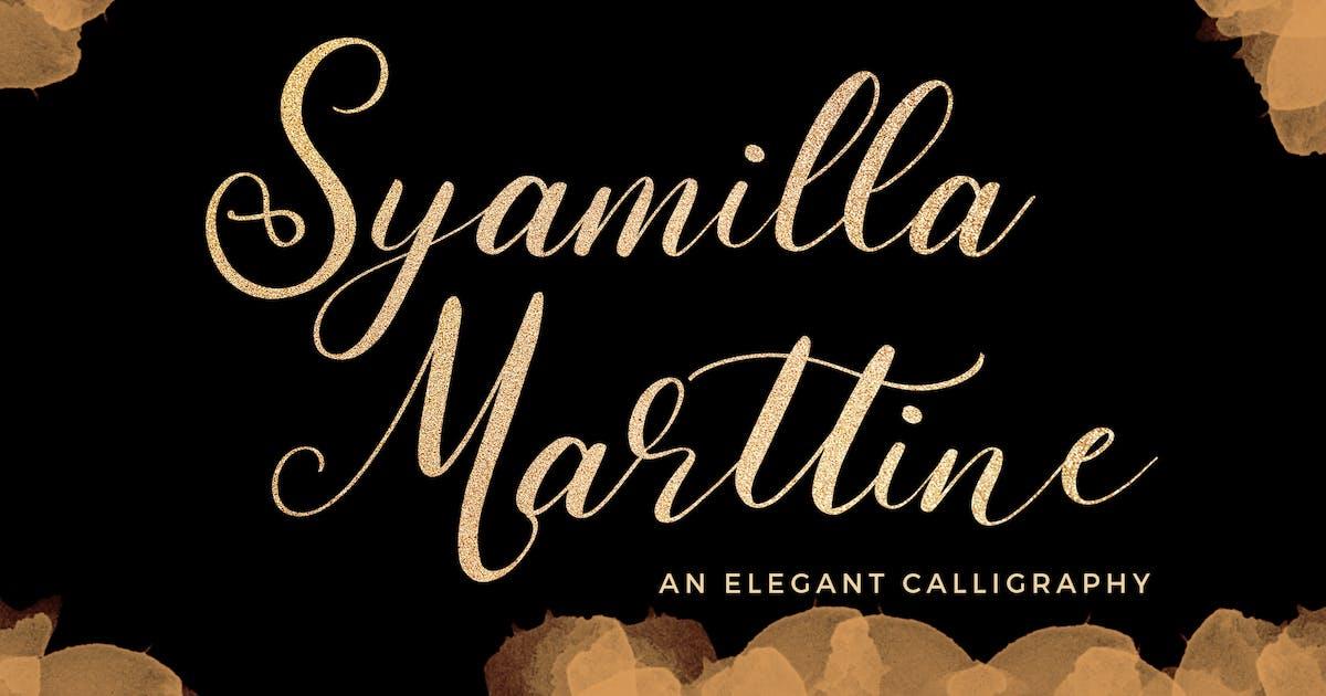 Download Syamilla Marttine An Elegant Calligraphy Font by Formatika