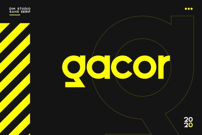 Thumbnail for Gacor-Urban Sans Con serifa Fuente