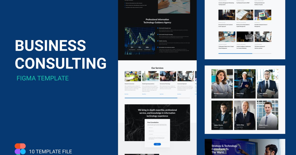 Download ITC - Business Consulting Figma Template by elmous