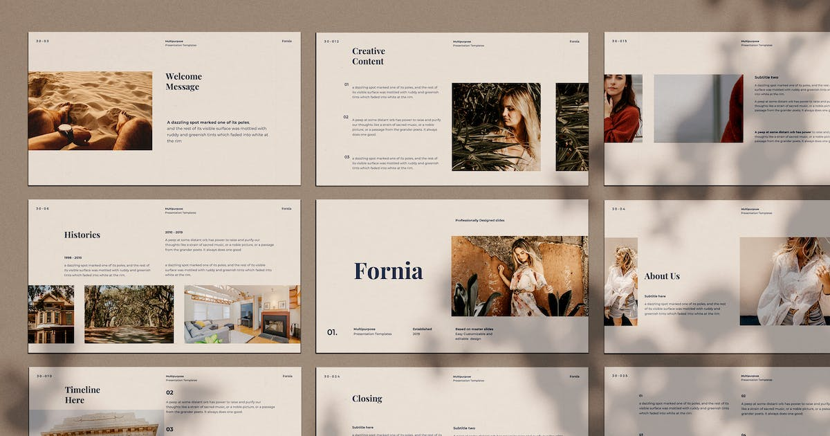 Download Fornia - Keynote Template by adilbudianto