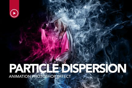 Gif Animated Particle Dispersion