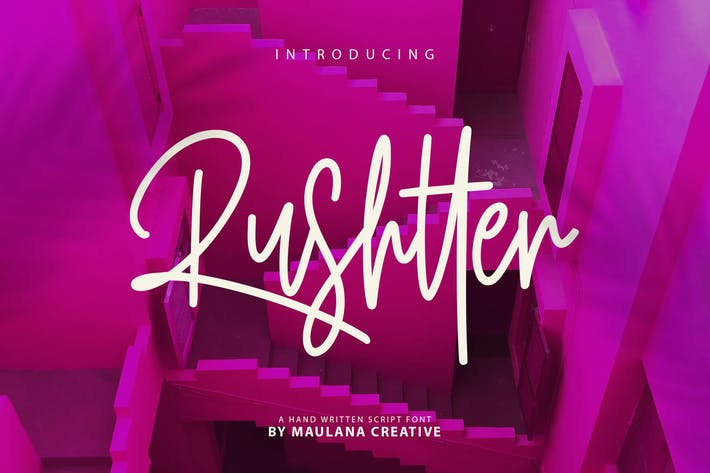 Thumbnail for Rushtter Signature Font