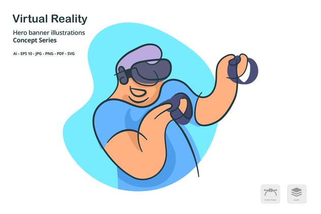 Virtual Reality Vector Illustration