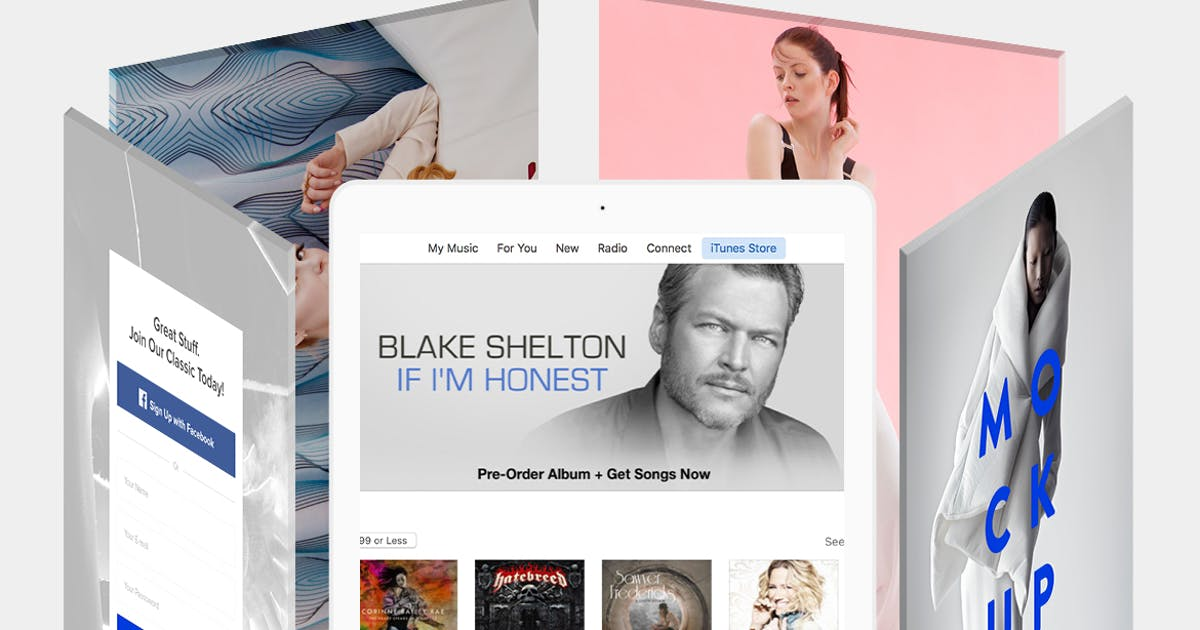 Download Revolving iPad Screen Mockup by theme_bubble