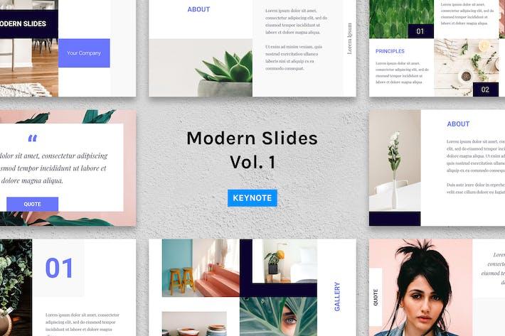Thumbnail for Modern Slides (Vol.1) – Keynote Template