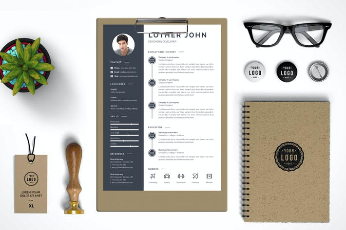Thumbnail for Resume Template 44