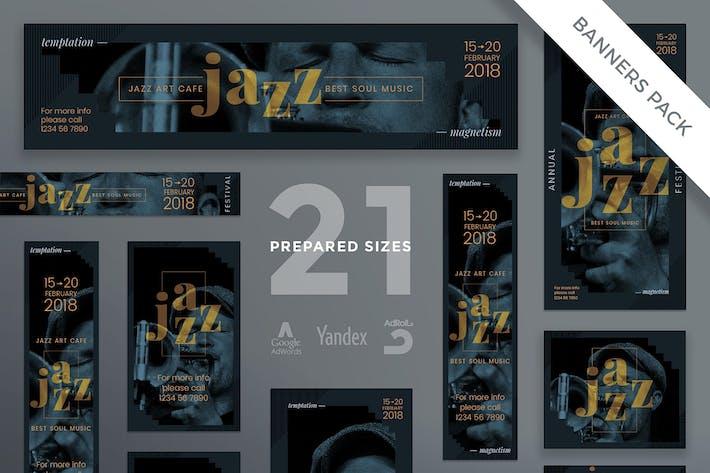 Thumbnail for Modèle de bannière Festival de Jazz