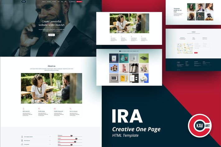 Thumbnail for IRA - Creative One Page HTML Template