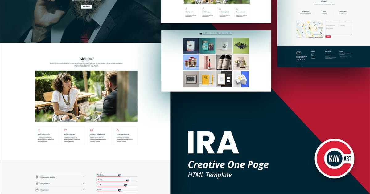 Download IRA - Creative One Page HTML Template by C-Kav