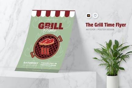 Grill-Zeit-Flyer