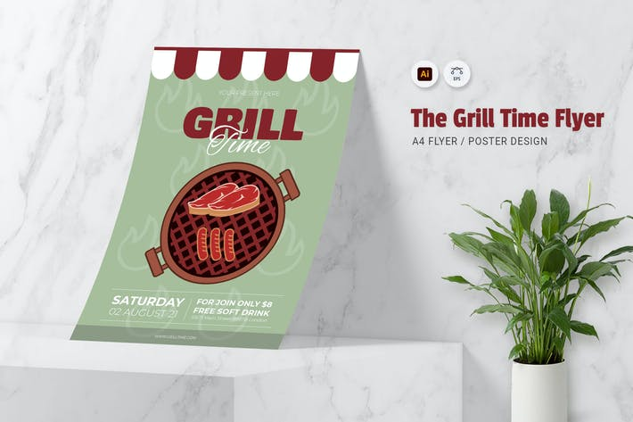 Grill Time Flyer