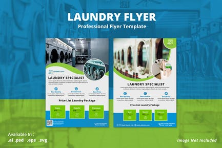 Laundry Promotion Flyer Template