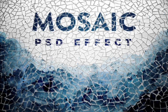 Thumbnail for Mosaic Photo Effect Mockup