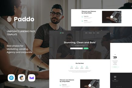 Paddo - Услуги Unbounce целевой страницы Шаблон