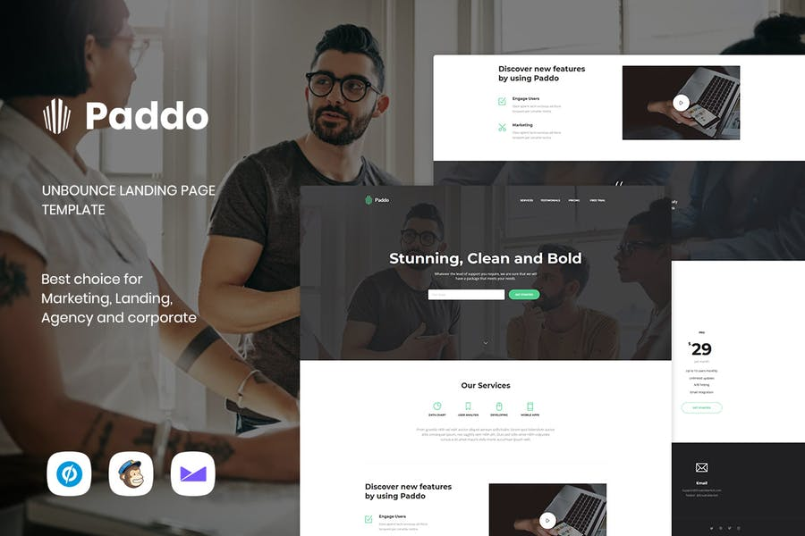 Paddo - Services Unbounce Landing Page Template