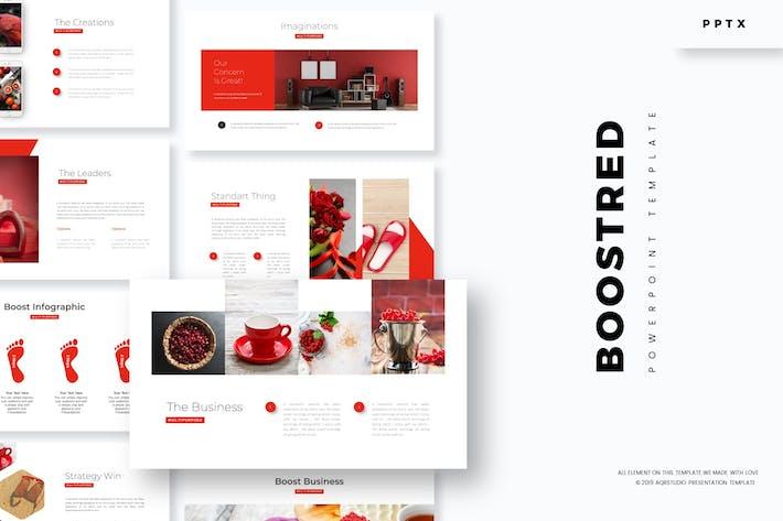 Усиление красного - Powerpoint Шаблон