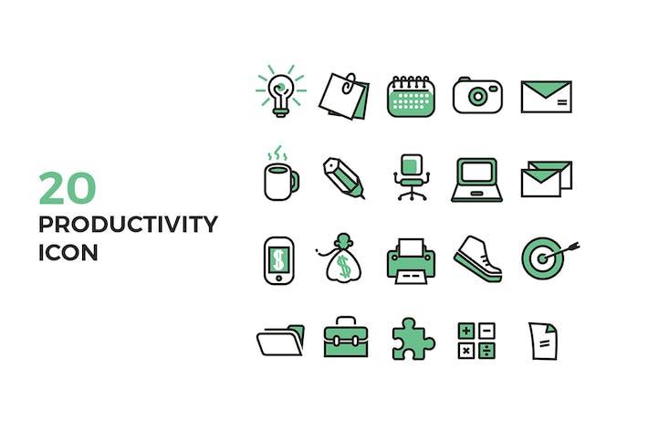 Thumbnail for Icones de productivité