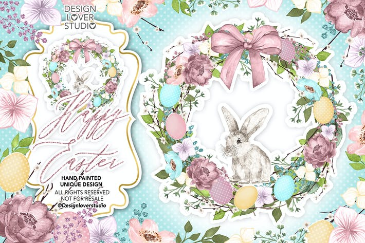 Cover Image For Happy easter cute design