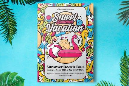 Sommer-Party-Flyer Vorlage