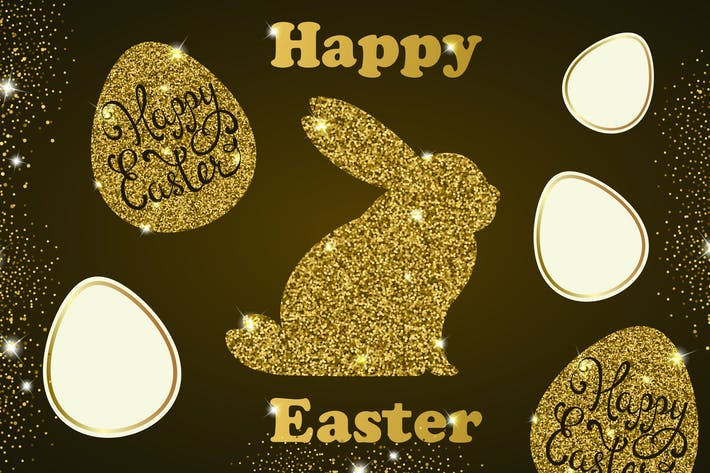 Cover Image For Golden Easter Cards