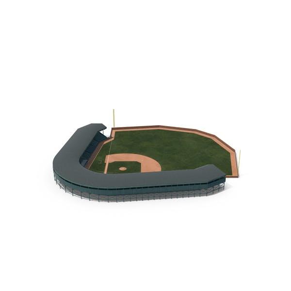Thumbnail for Campo de béisbol con tribuna con pared de ladrillo