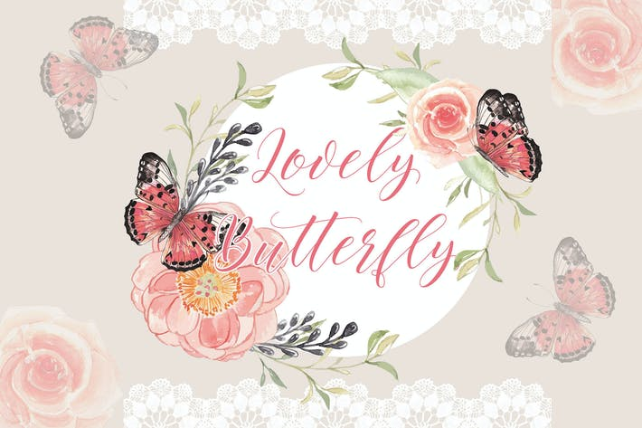 Thumbnail for Lovely Butterfly VECTOR
