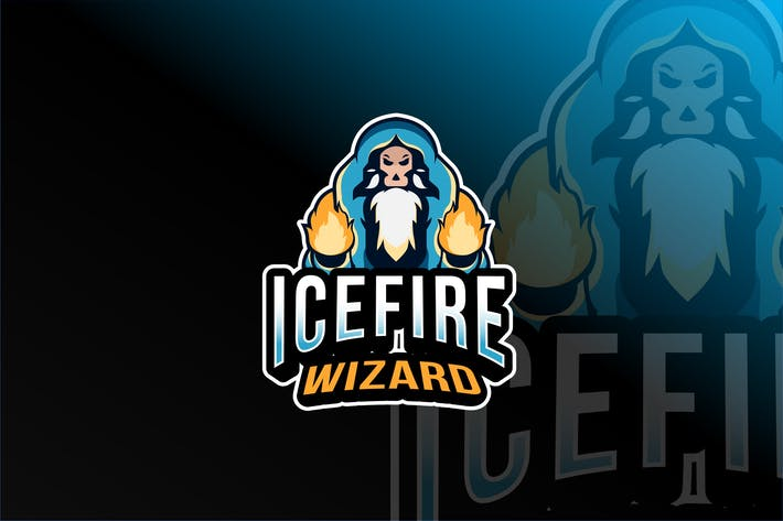 Thumbnail for Icefire wizard Esport Logo Template
