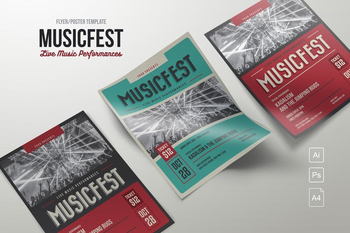 Cover Image For MusicFest Flyer Template