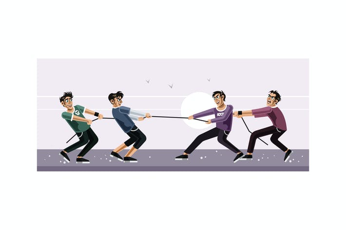 Thumbnail for Tug of war vector graphics illustration